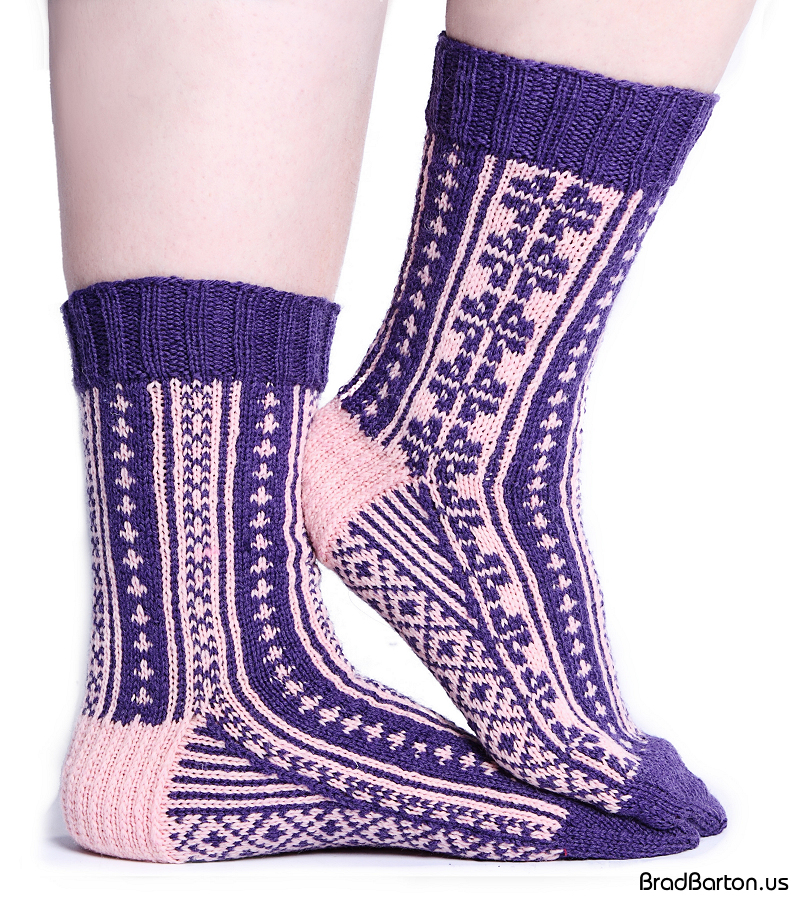 Grand Prairie Knit Shop Knitting Fairy Colorwork Socks
